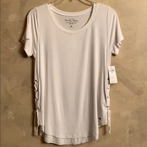 Hollister women's white shirt with ties on side